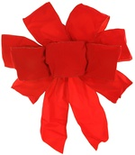 Red Exterior Wire Puff Velvet Christmas Bow