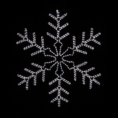 4' LED Lighted Snowflake Outdoor Christmas Decoration