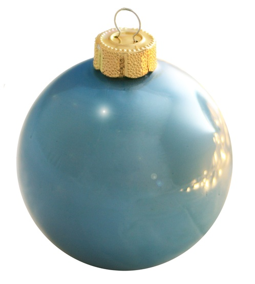 "4.75"" Baby Blue Ball Ornament - Pearl Finish"