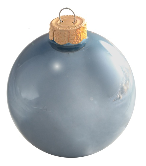 "2"" Sky Blue Ball Ornament - Matte Finish"