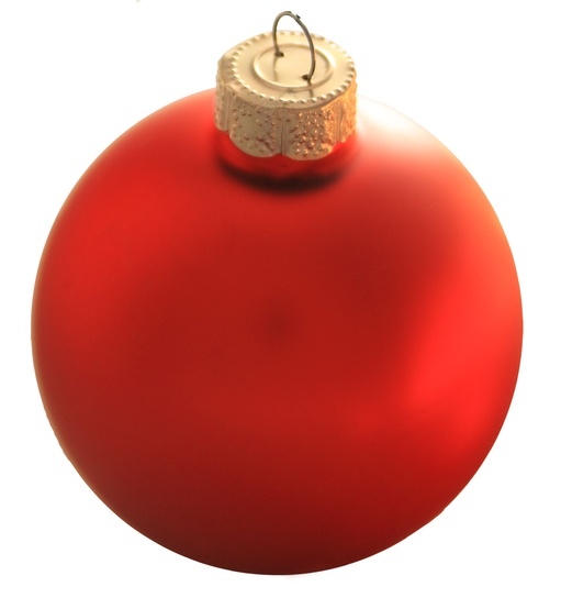 "7"" Rosewood Ball Ornament - Matte Finish"