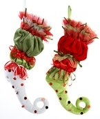 "21"" Red and Green Jester Stockings, Set of 2"