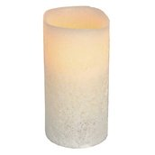 "6""H Vanilla Scented Battery Operated Flameless LED Candle in Bisque"