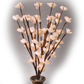"39"" Battery Operated LED Cherry Blossom Branches with Timer, 2pc"
