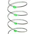 18 Green Battery Operated LED Fairy Lights, Green Wire