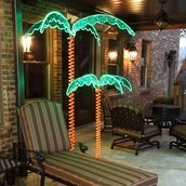 7' Deluxe LED Lighted Palm Tree