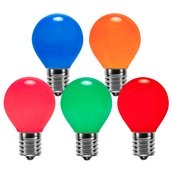 S11 Opaque Multicolor, 10 Watt Replacement Bulbs