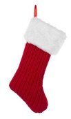 "20"" Red Rib Knit Stocking"