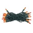 "35 Amber / Orange Lights, 4"" Spacing, Green Wire"