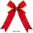 Red with Gold Trim Structural 3D Nylon Christmas Bow