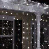 150 5mm Cool White Curtain LED Icicle Lights