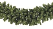 Sequoia Fir Prelit Commercial LED Christmas Garland, Warm White Lights
