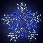LED Snowflake with Blue Center