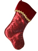 "19"" Red Stocking with Swirl Design"