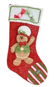 "20"" Red Gingerbread Man Stocking"